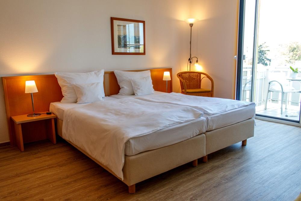 schlafbereich im doppelzimmer komfort