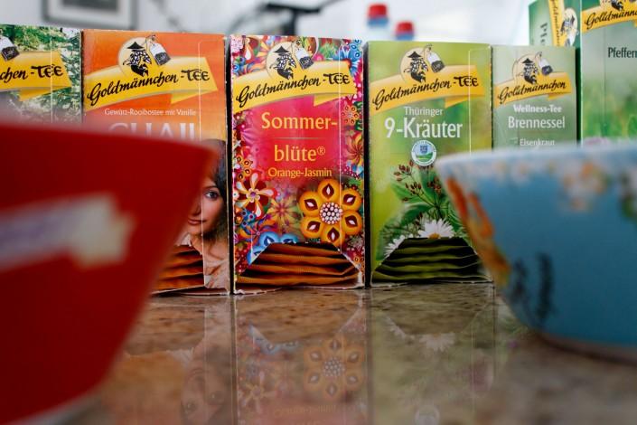 umfangreiches Teesortiment